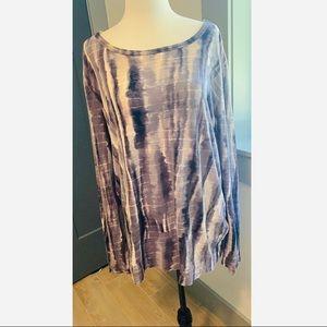 Vera Wang tie dye long sleeve shirt size XL